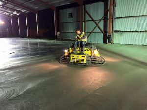 power float concrete floor